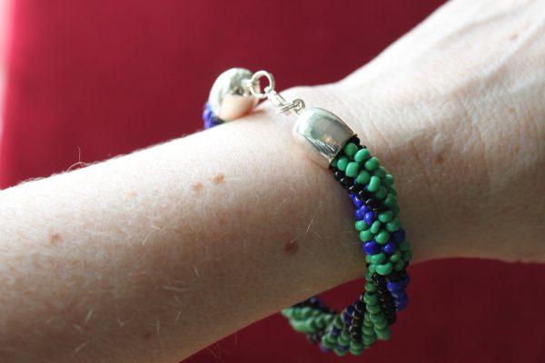 Black Watch Tartan Beaded Bracelet 2