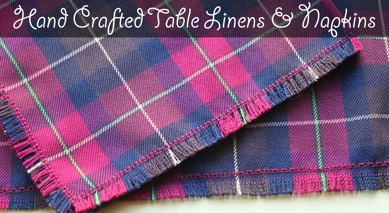 tartan table linens and napkins
