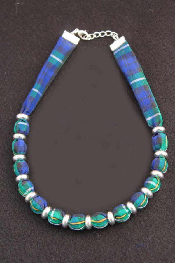 Campbell tartan necklace