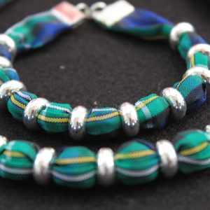 tartan Campbell necklace and bracelet set